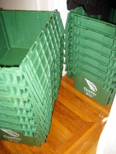 stackes of Zippgo boxes